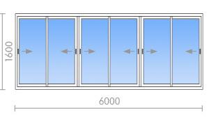 Остекление лоджии 6 метров - цена 26 100 руб. - okna street .