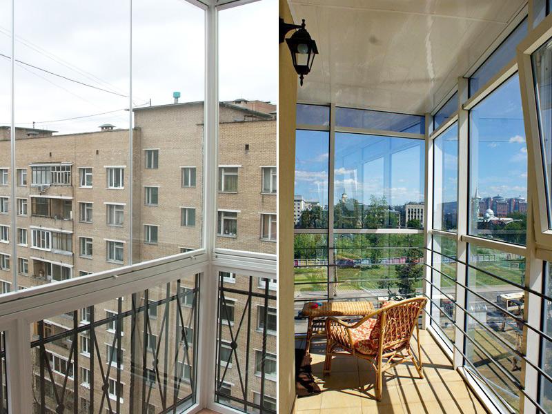 Панорамное остекление балконов и лоджий (фото, цена) - okna .