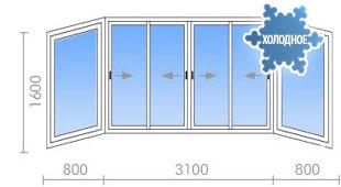 Цена на остекление балконов в ii-18 от 20 100 руб. - okna st.
