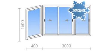 Цена на остекление балкона в ii-49 от 16 450 руб. - okna str.