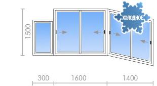 Цена на остекление балкона (лоджии) в п-3м от 19 250 руб. - .