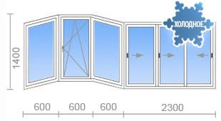 Остекление балкона п 111м цена..