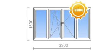 Цена на остекление балкона (лоджии) в 1-515/9ш от 14 950 руб.