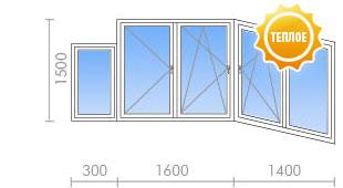 Цена на остекление балкона (лоджии) в п-3м - 19 250 руб. - o.