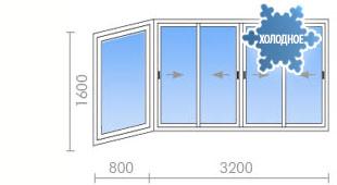 Цена на остекление балконов в ii-18 - 20 100 руб. - okna str.