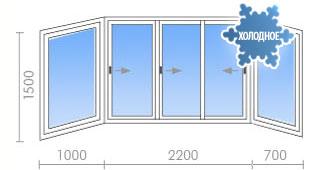 Цена на остекление балконов (лоджий) в п-3 от 15 600 руб. - .