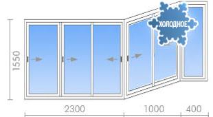 Цена на остекление балконов (лоджий) в п-44т - 18 400 руб. -.