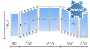 Цена на остекление балконов (лоджий) в и-155 от 12 300 руб. .
