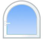 Нестандартные пластиковые окна с аркой