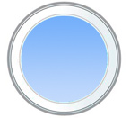 Деревянное круглое окно