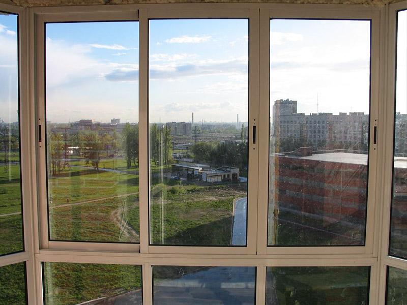 Окна из алюминиевого профиля фото