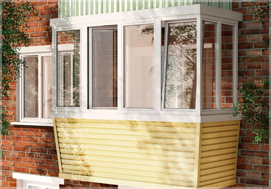 Внешняя отделка балкона сайдингом: фото, цена, цвет - OKNA STREET г.Москва